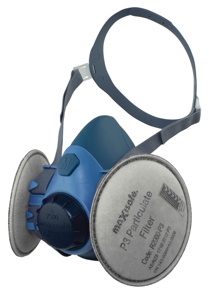 Maxiguard Silicone Half Mask With P3 Filters - Large