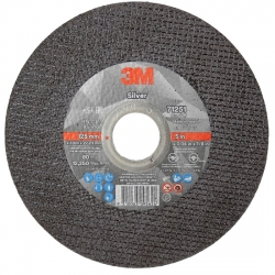 3M Silver Cut-off Wheel 125 x 1 x 22.3mm Bucket, 100 Wheels Bonus 3m Solus 1000