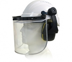 Maxisafe Helmet with Clear Visor and Muffs Complete