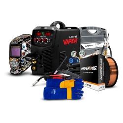 Unimig Viper 185 Mig / Tig / Stick Welder Bundle  Contents: VIPER 185 MIG/TIG/ST